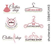 clothes shop fashion logo... | Shutterstock .eps vector #338691443