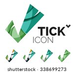 set of abstract ok and tick... | Shutterstock .eps vector #338699273