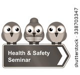 comical health and safety... | Shutterstock . vector #338703347