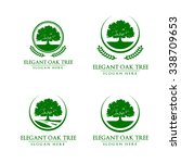 green oak tree logo vol 2 | Shutterstock .eps vector #338709653
