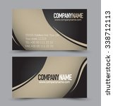 business card design set... | Shutterstock .eps vector #338712113