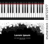 template with piano keyboard on ... | Shutterstock .eps vector #338722577