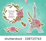 hand drawing floral background... | Shutterstock .eps vector #338725763