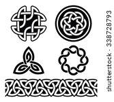 celtic irish patterns and knots ...   Shutterstock .eps vector #338728793