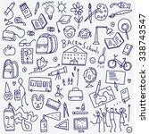 school doodles | Shutterstock .eps vector #338743547