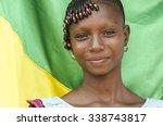 africa girl posing in front of... | Shutterstock . vector #338743817
