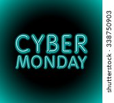 vector cyber monday sale... | Shutterstock .eps vector #338750903