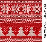 christmas sweater design.... | Shutterstock .eps vector #338754713