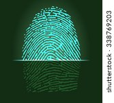 fingerprint scanner ... | Shutterstock .eps vector #338769203