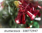 christmas tree decorations in... | Shutterstock . vector #338772947