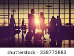 back lit business people... | Shutterstock . vector #338773883