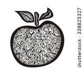 apple pattern vector...   Shutterstock .eps vector #338825327