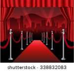 red carpet movie premiere... | Shutterstock .eps vector #338832083