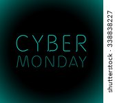 vector cyber monday sale... | Shutterstock .eps vector #338838227