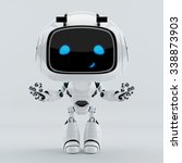 positive cute smiling robot... | Shutterstock . vector #338873903