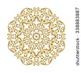 ornamental gold lace pattern... | Shutterstock .eps vector #338883887