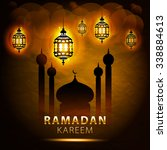 traditional lantern of ramadan  ... | Shutterstock . vector #338884613