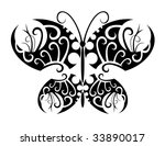 vector. isolated tattoo of... | Shutterstock .eps vector #33890017