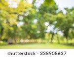 abstract blur city park bokeh... | Shutterstock . vector #338908637
