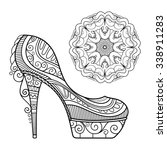 vector women's shoes with...   Shutterstock .eps vector #338911283