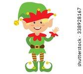 christmas elf vector... | Shutterstock .eps vector #338928167