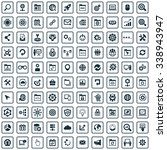 seo 100 icons universal set for ... | Shutterstock . vector #338943947
