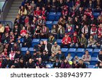 moscow   october 17  2015  fans ... | Shutterstock . vector #338943977