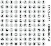 avatar 100 icons universal set... | Shutterstock . vector #338947193