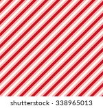 red white diagonal stripe... | Shutterstock .eps vector #338965013