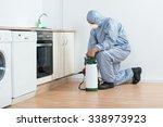 full length of exterminator... | Shutterstock . vector #338973923