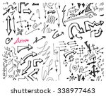 hand drawn seamless doodle... | Shutterstock .eps vector #338977463