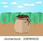 bag of coffee | Shutterstock .eps vector #338984033