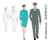 set characters of aviation... | Shutterstock .eps vector #338985317