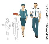 set characters of aviation... | Shutterstock .eps vector #338987573