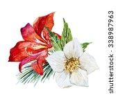 christmas watercolor... | Shutterstock . vector #338987963