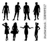 standing people black... | Shutterstock .eps vector #338989517