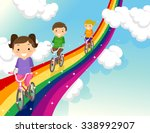 stickman illustration of kids... | Shutterstock .eps vector #338992907