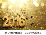 new year decoration with 2016.   Shutterstock . vector #338993063