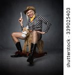 Cow Boy Funny Portrait  With...