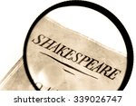 a book by shakespeare under a... | Shutterstock . vector #339026747