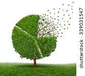 financial market loss and... | Shutterstock . vector #339031547