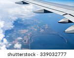 airplane wing out of window... | Shutterstock . vector #339032777