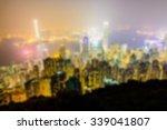 abstract blur hong kong skyline ... | Shutterstock . vector #339041807