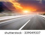 motion blur of the highway road | Shutterstock . vector #339049337