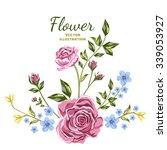 vector of flower bouquets. blue ...   Shutterstock .eps vector #339053927
