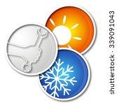 repair air conditioner symbol... | Shutterstock .eps vector #339091043