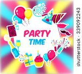 celebration background with... | Shutterstock .eps vector #339092243