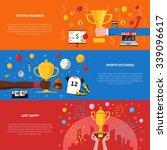 awards horizontal banners set... | Shutterstock .eps vector #339096617
