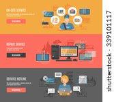 computer repair hotline... | Shutterstock .eps vector #339101117