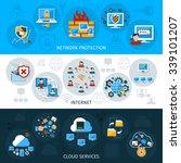 network security horizontal... | Shutterstock .eps vector #339101207